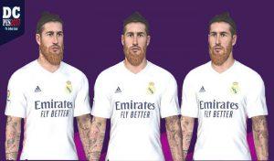 دانلود فیس Sergio Ramos برای PES 2017  فصل 20-21