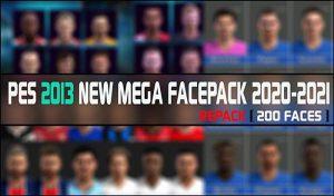 مگا فیس پک 2021 برای PES 2013 توسط RGR MODS