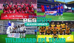 تایتل ادبورد EPL Teams برای PES 2017 توسط Rzten