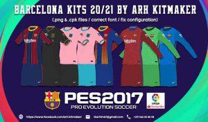 کیت FC Barcelona برای PES2017 – فصل 2020/2021