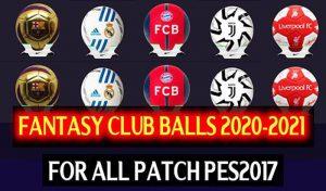 توپ پک فانتزی CLUBS 20-21 برای PES 2017