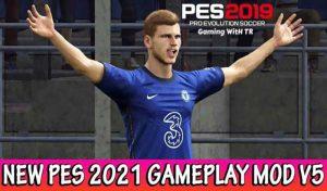 دانلود گیم پلی Official PES 2021 v5 برای PES 2019
