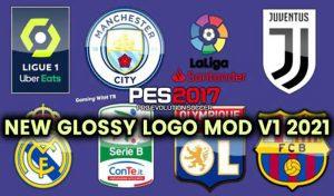 لوگو تیم ها Glossy Logo Mod 2021 v1 برای PES 2017