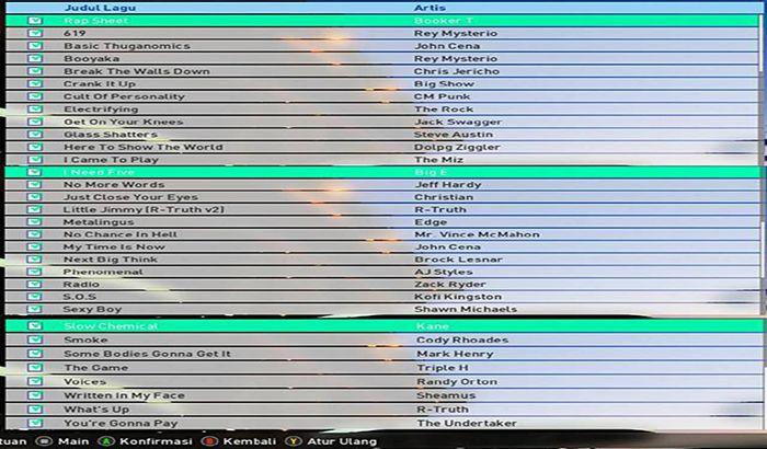 موزیک منو WWE Soundtracks