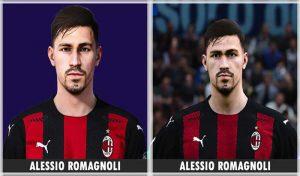 فیس Alessio Romagnoli برای PES 2021 توسط Bono Facemaker