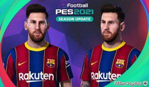 فیس Lionel Messiبرای PES 2021 توسط pesnewupdate