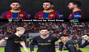 فیس Lionel Messi برای PES 2021 توسط Toni Tony
