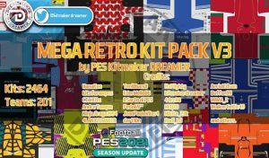 دانلود مگا کیت پک Retro v3 برای PES 2021