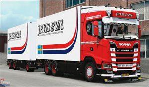 کامیون SCANIA S 500 JP VIS ZN 1.39 برای یورو تراک 2