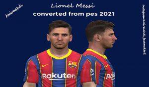 فیس Lionel Messi برای PES 2017 ( تبدیلی از PES 2021 )
