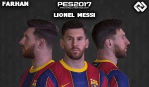 فیس جدید Lionel Messi برای PES 2017 توسط FARHAN