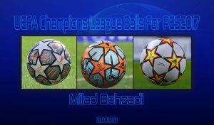توپ پک UEFA Champions League برای PES 2017