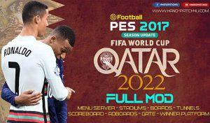 ماد گرافیکی FIFA WORLD CUP QATAR 2022 برای PES 2017