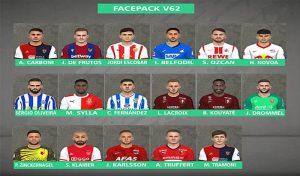 فیس پک Vol.62برای PES 2017 توسط FR Facemaker