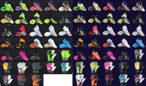 کفش و دستکش پک V1 برای PES 2019 توسط Tisera09