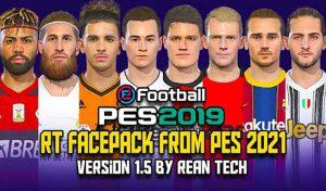 فیس پک PES 2021 v1.5 برای PES 2019 توسط Rean tech