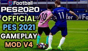 گیم پلی PES 2021 Gameplay V4 برای PES 2020