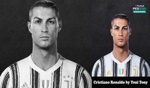 فیس Cristiano Ronaldo برای PES 2021 توسط Toni Tony