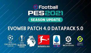 پچ EvoWeb Patch 2021 Version 4.0 برای PES 2021 + آپدیت 3