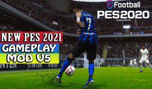 گیم پلی PES 2021 Gameplay V5 برای PES 2020