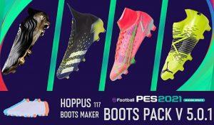 کفش پک V5.0.1 برای PES 2021 توسط Hoppus117 Boots Maker