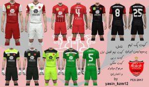 کیت Persepolis FC برای PES 2017 توسط YASIN kzm