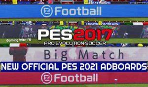 ادبورد جدید Official PES 2021 برای PES 2017
