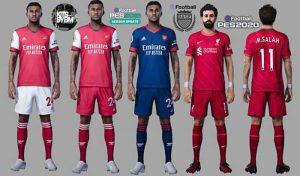 کیت Arsenal & Liverpool برای PES 2021 فصل 2020/2021