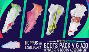 کفش پک V 6.0 برای PES 2021 توسط Hoppus117 Boots Maker