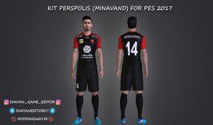 کیت Persepolis FC برای PES 2017 ( کیت مخصوص مرحوم میناوند )