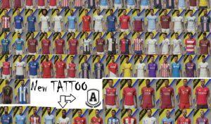 تتو پک Tattoos Pack AIO v.4.0 برای FIFA 20