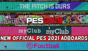 ادبورد پک OFFICIAL PES 2021 برای PES 2019 توسط TR