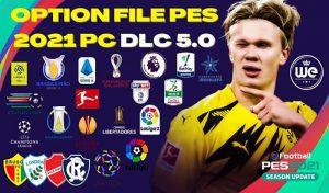 آپشن فایل Compilation OF DLC 5 برای PES 2021 نسخه PS5/PS4