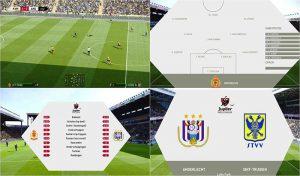 اسکوربرد Jupiler Pro League برای PES 2021