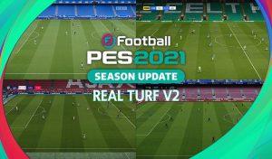 ماد چمن Real Turf V2 برای PES 2021 توسط endo