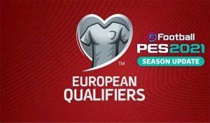 اسکوربرد European Qualifiers برای PES 2021
