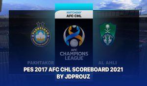 اسکوربرد AFC Champions League 2021 برای PES 2017
