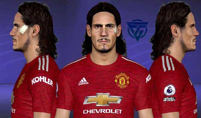 فیس Cavani Manchester United
