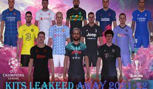 کیت پک Leaked 2021-22 v2 برای PES 2017 توسط Lord indratco