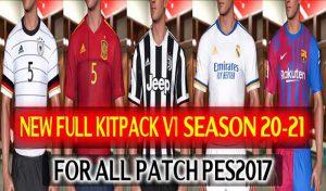 کیت پک v1 Season 2021-2022 برای PES 2017 توسط DzPlayZ