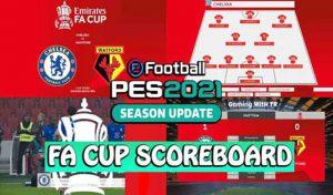 اسکوربرد FA CUP برای PES 2021 توسط spursfan18