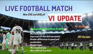 گیم پلی LIVE FOOTBALL MATCH V1 برای PES 2021