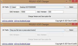 نرم افزار EDIT Version Changer برای PES 2021