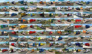 کامیون پک Painted BDF Traffic Pack v9.8 برای یورو تراک 2