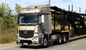 کامیون Mercedes Actros Brasil edit V1.0 برای یورو تراک 2