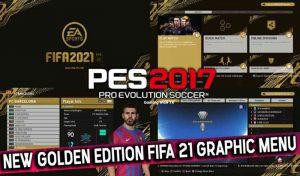 ماد گرافیکی GOLDEN EDITION FIFA 21 برای PES 2017