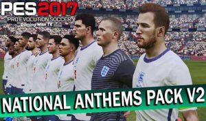 پک سرورد تیم های ملی National Anthems v2 برای PES 2017