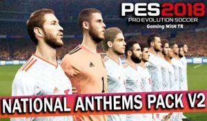 پک سرود تیم های ملی National Anthems v2 برای PES 2018