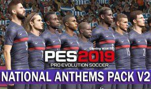 پک سرورد National Anthems v2برای PES 2019 توسط predator002