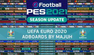 پک ادبورد Adboard Pack v1.2 برای PES 2021 توسط majuh